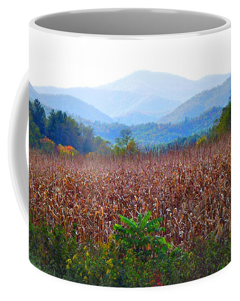 Landscapes Coffee Mug featuring the photograph Cornfield In The Mountains by Duane McCullough