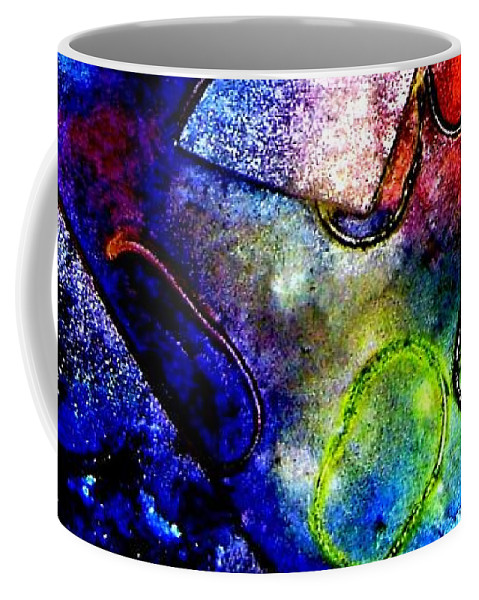 Abstract Coffee Mug featuring the mixed media Cornucopia by John Nolan