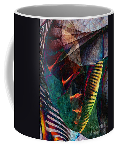 Cornucopia Coffee Mug featuring the digital art Cornucopia by Klara Acel
