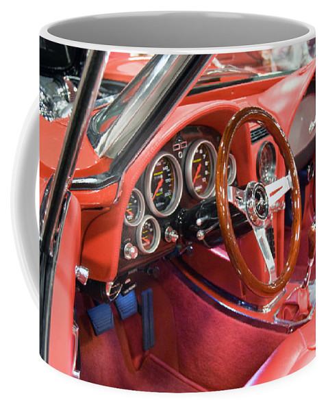 Classic Cars Coffee Mug featuring the photograph Corvette by Armand Hebert