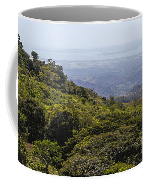 Monteverde Costa Rica Mountain Mountains Valley Valleys Tree Trees Nature Landscape Landscapes Coffee Mug featuring the photograph Costa Rica Landscape by Bob Phillips