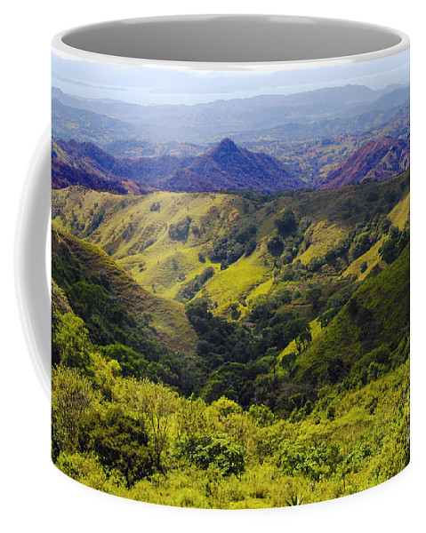 Monteverde Costa Rica Mountain Mountains Valley Valleys Tree Trees Nature Landscape Landscapes Coffee Mug featuring the photograph Costa Rica Mountains by Bob Phillips