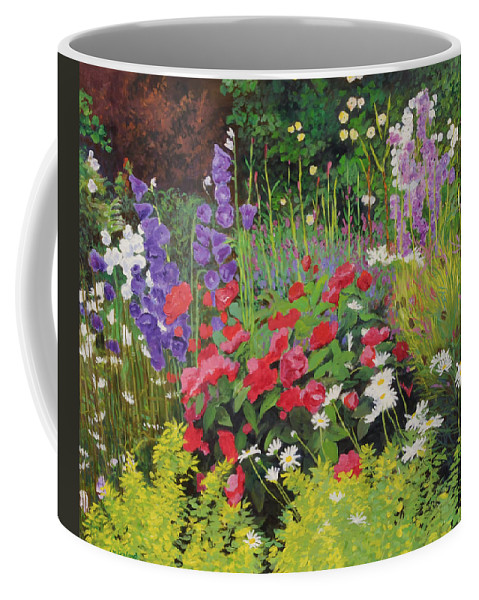 Flowers Coffee Mug featuring the painting Cottage Garden by William Ireland