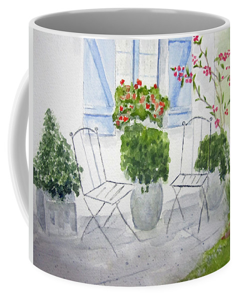 Floral Coffee Mug featuring the painting Cottage Garden by Elvira Ingram