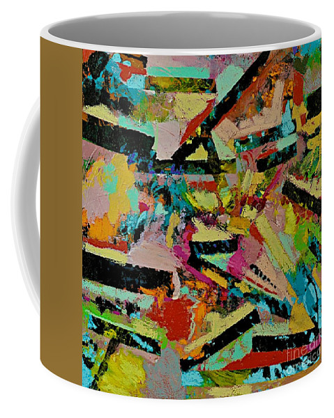 Landscape Coffee Mug featuring the painting Cotton Crystal by Allan P Friedlander