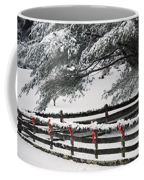 Virginia Coffee Mug featuring the photograph Country Christmas by Eric Liller