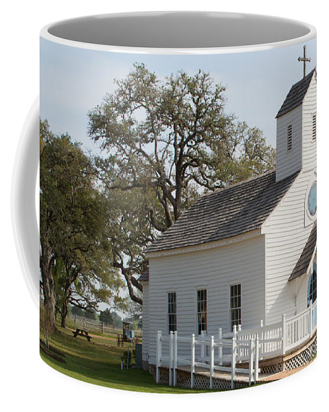 Texas Coffee Mug featuring the photograph Round Top Texas Country Church by JG Thompson