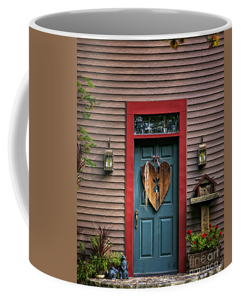 Door Coffee Mug featuring the photograph Country Door by Timothy Flanigan