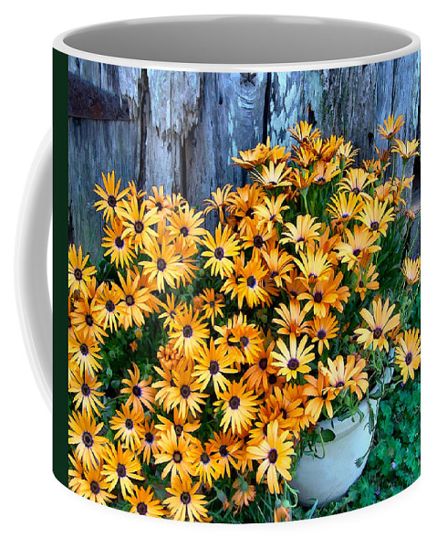 Flower Coffee Mug featuring the photograph Country Floral by Nadine Lewis