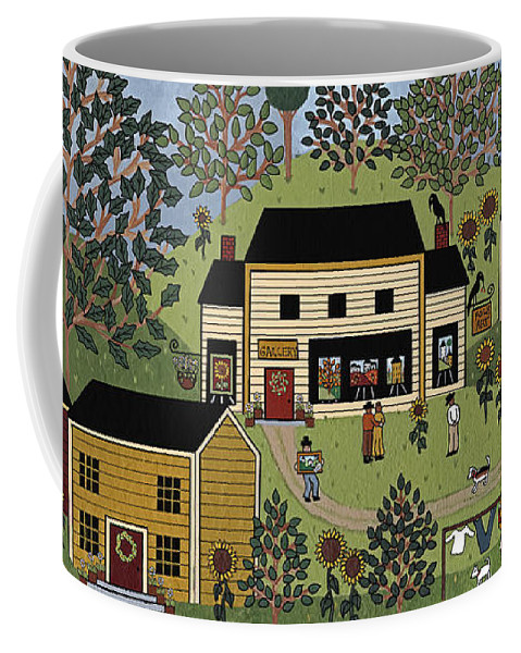 Folk Art Coffee Mug featuring the painting Country Gallery by Medana Gabbard