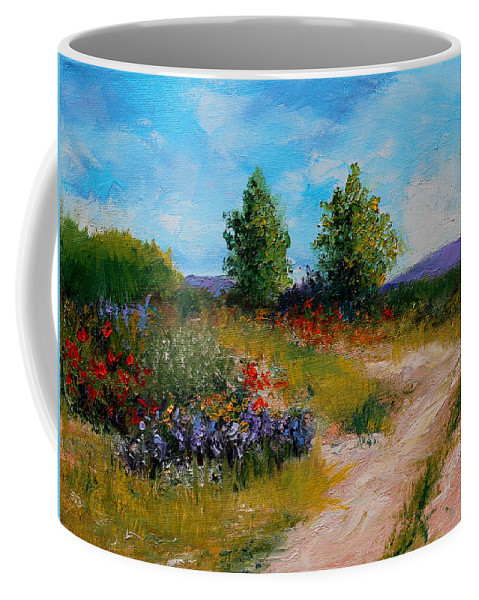Floral Coffee Mug featuring the painting Country Lane by M Diane Bonaparte