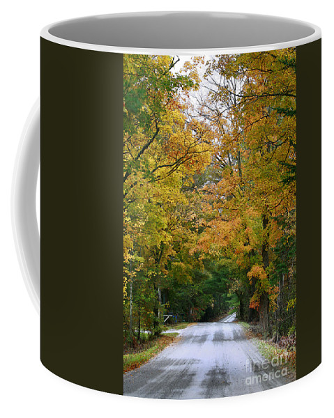 Fall Coffee Mug featuring the photograph Country Road Fall Vermont by Deborah Benoit
