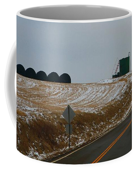Country Roads In Holmes County Coffee Mug featuring the photograph Country Roads In Holmes County by Dan Sproul