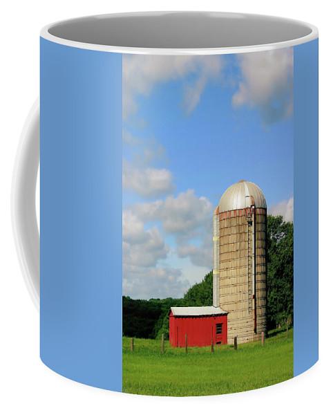 Farm Coffee Mug featuring the photograph Country Silo by Karol Livote