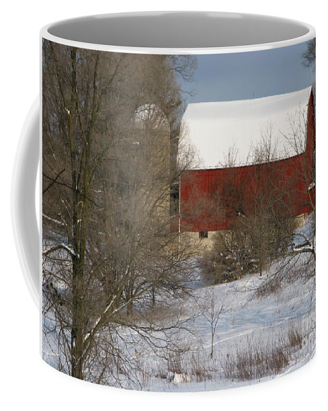 Winter Coffee Mug featuring the photograph Country Winter by Ann Horn