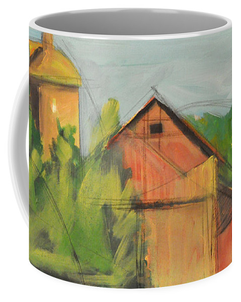Barn Coffee Mug featuring the painting County Tt by Tim Nyberg