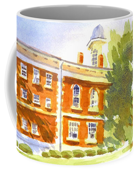 Courthouse In August Sun Coffee Mug featuring the painting Courthouse In August Sun by Kip DeVore