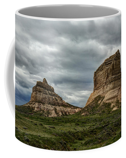 Rock Coffee Mug featuring the photograph Courthouse Jailhouse Rock 1 A by John Brueske