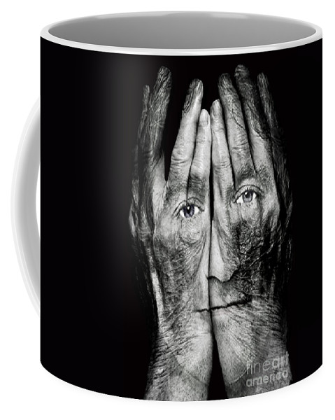 Robin Williams Coffee Mug featuring the photograph Cover Thy Faces by Gary Keesler