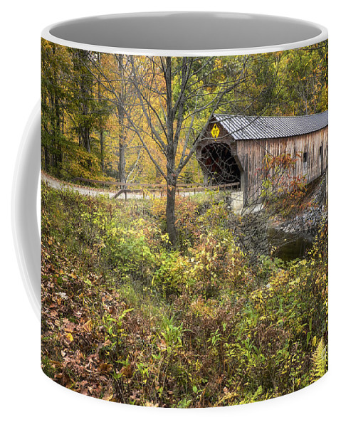 Covered Bridge Coffee Mug featuring the photograph Covered Bridge by Claudia Kuhn