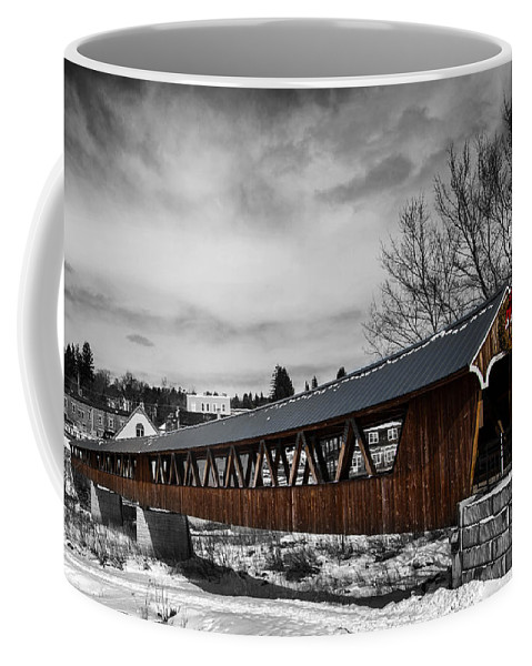 Covered Bridge Coffee Mug featuring the photograph Covered Bridge Littleton New Hampshire 3 by Glenn Gordon