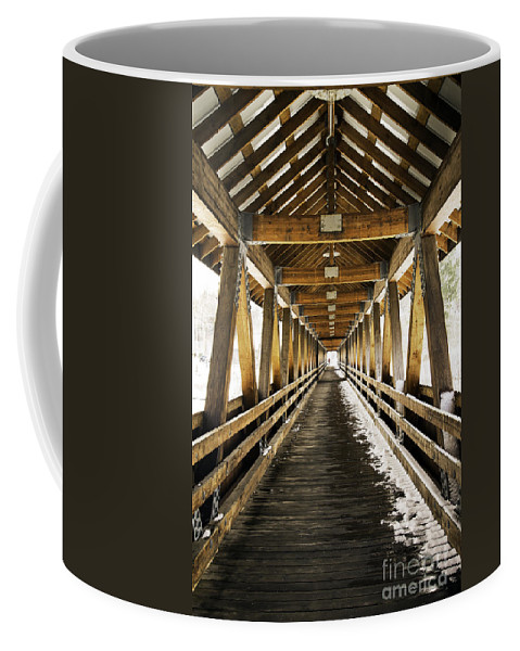 Covered Bridge Coffee Mug featuring the photograph Covered Bridge Littleton New Hampshire by Glenn Gordon