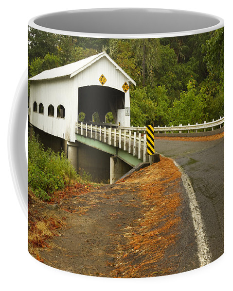 Bridge Coffee Mug featuring the photograph Covered Bridge Rochester 1 by John Brueske