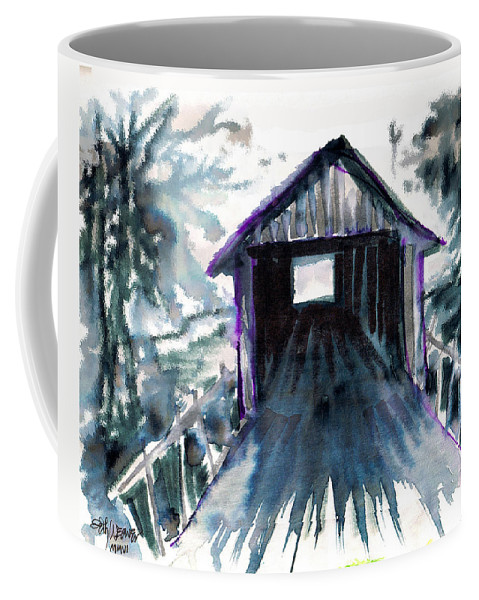 Old South Coffee Mug featuring the digital art Covered Bridge by Seth Weaver
