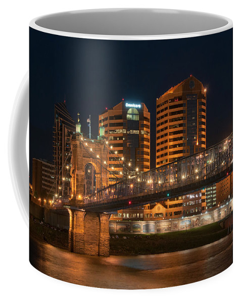 Covington Coffee Mug featuring the photograph Covington By Night by Constance Sanders