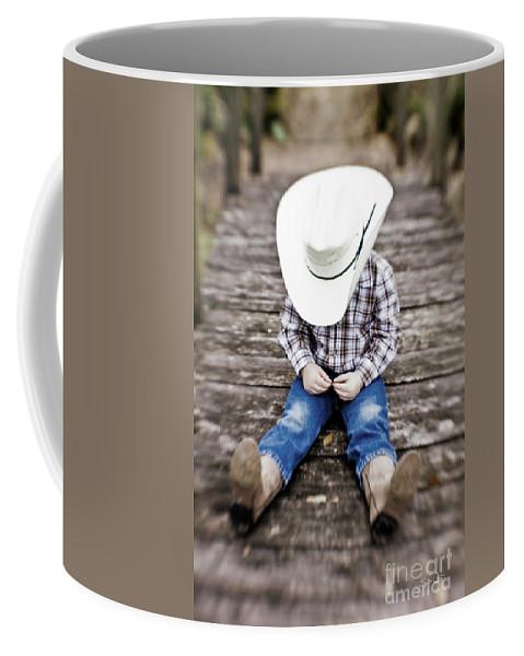 Cowboy Coffee Mug featuring the photograph Cowboy by Scott Pellegrin