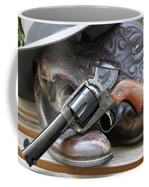 Gun Coffee Mug featuring the photograph Cowboys Gear by Shoal Hollingsworth