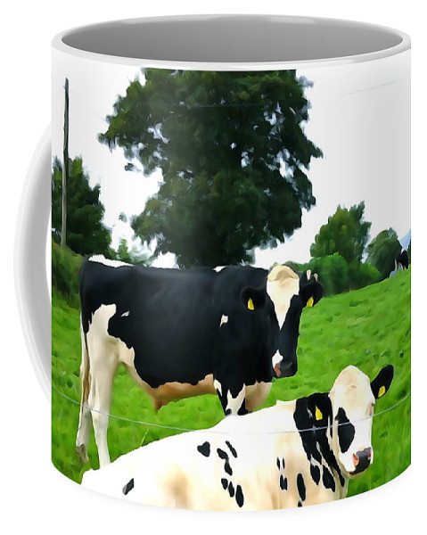 Cattle Coffee Mug featuring the photograph Cows by Charlie and Norma Brock