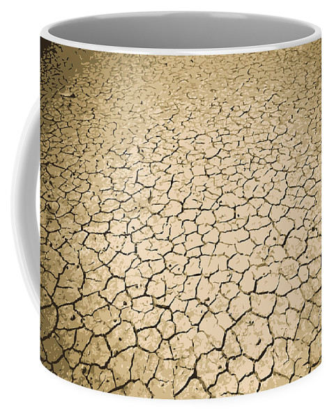 Land Coffee Mug featuring the photograph Cracked Ground by Tim Hester