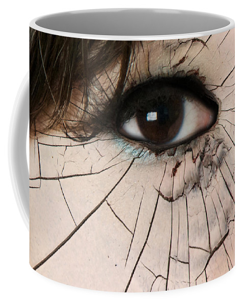 Losing It Coffee Mug featuring the photograph Cracking Up by Lisa Knechtel
