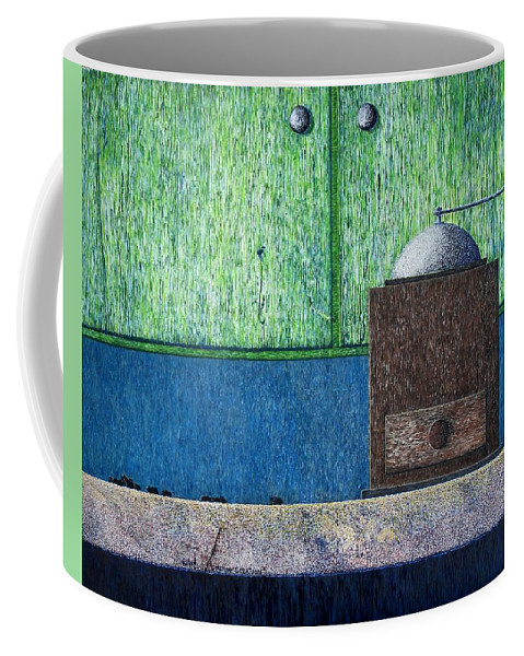 Still Life Coffee Mug featuring the painting Crafting Creation by A Robert Malcom