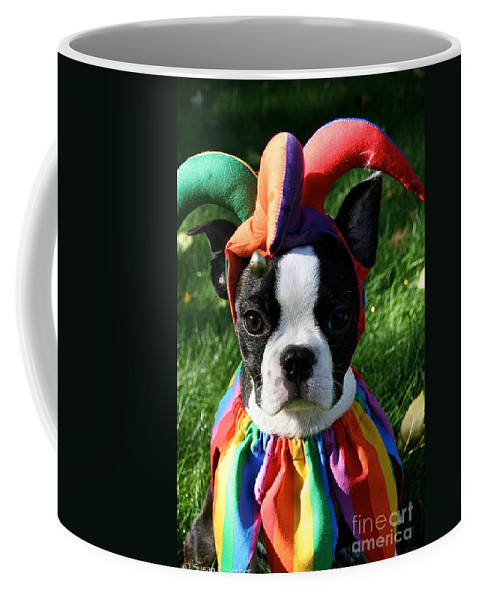 Dog Coffee Mug featuring the photograph Cranky Jester by Susan Herber