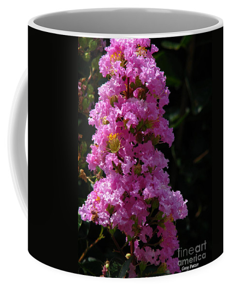 Art For The Wall...patzer Photography Coffee Mug featuring the photograph Crape Myrtle by Greg Patzer