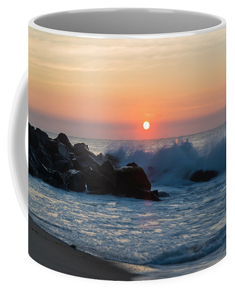 New Jersey Coffee Mug featuring the photograph Crashers by Kristopher Schoenleber