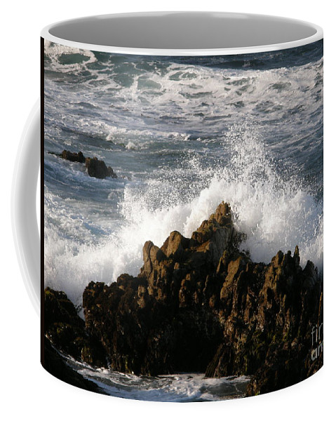 Wave Coffee Mug featuring the photograph Crashing Wave by Bev Conover