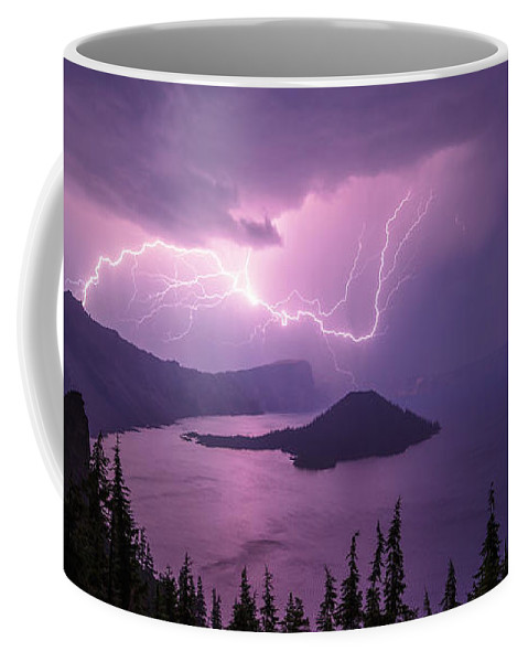 Crater Storm Coffee Mug featuring the photograph Crater Storm by Chad Dutson