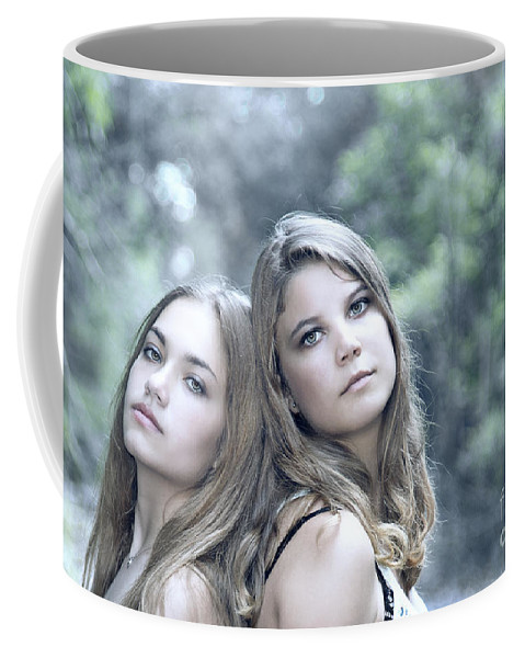 Girl Coffee Mug featuring the photograph Create Your Destiny by Evelina Kremsdorf