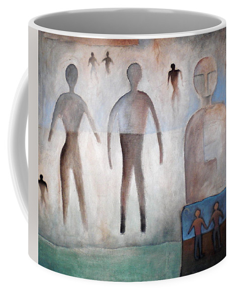 Man And Woman Coffee Mug featuring the mixed media Creation Of Man And Woman by Gerry High