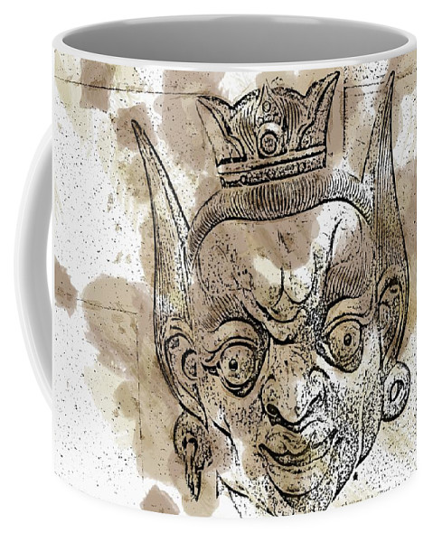 Mask Coffee Mug featuring the photograph Creepy Mask by Alice Gipson