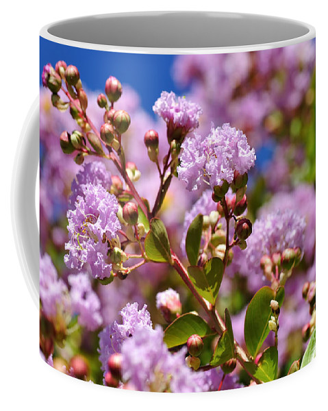 Photography Coffee Mug featuring the photograph Crepe Myrtle by Kaye Menner