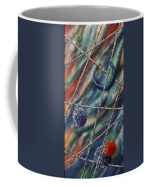 Abstract Coffee Mug featuring the painting Crescent by Micah Guenther