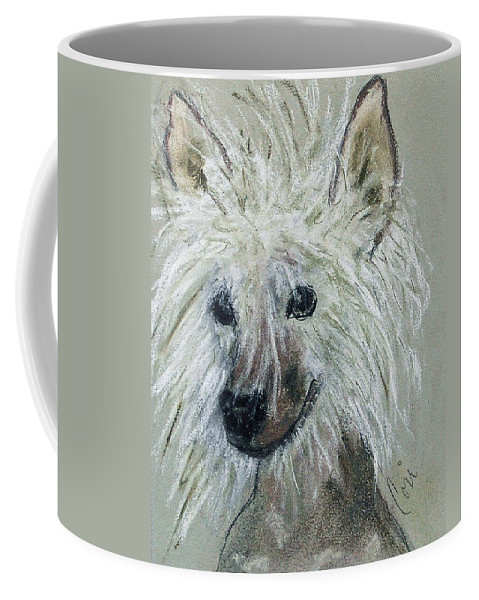 Chinese Crested Coffee Mug featuring the drawing Crested Star by Cori Solomon