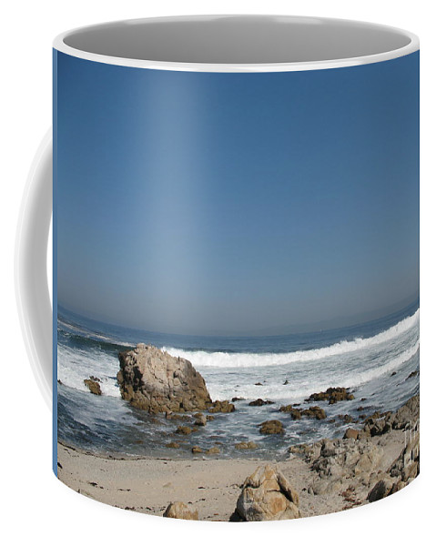 Coast Coffee Mug featuring the photograph Crestwaves On A California Beach by Christiane Schulze Art And Photography