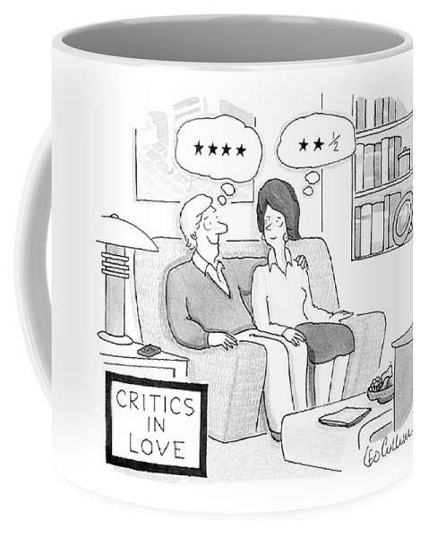 Vanity Coffee Mug featuring the drawing Critics In Love by Leo Cullum