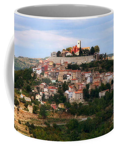 View Coffee Mug featuring the photograph Croatian City Motovun by Nick Biemans