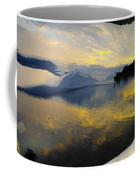 Water Coffee Mug featuring the photograph Crooked Frame by Jeff Swan